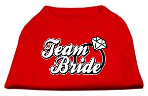 Team Bride Screen Print Shirt Red Lg (14)